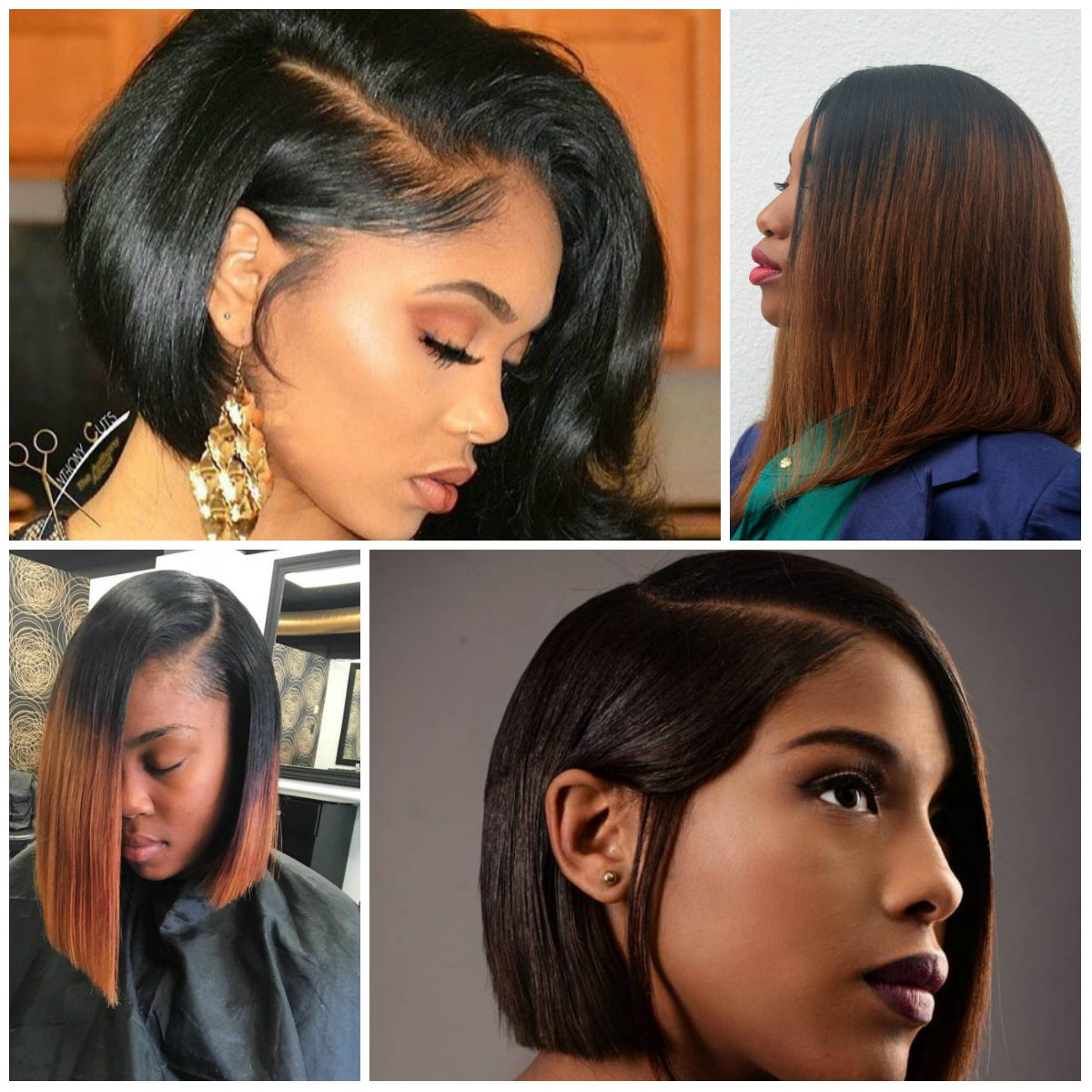 2017 Long And Short Bob Hairstyles For Black Women